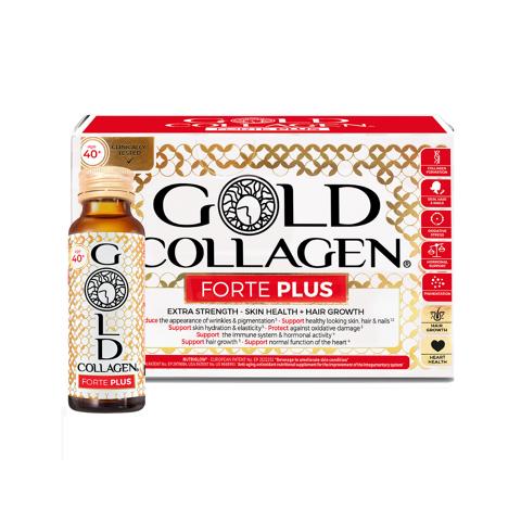 Gold Collagen Forte Plus (Complemento líquido nutricional para mujeres de 40 años)
